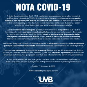 Nota UVB COVID-19