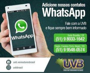 União dos Vereadores do Brasil-UVB suspenderá o atendimento presencial  nas sedes