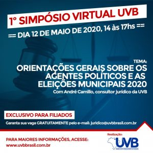 UVB REALIZA 1º SIMPÓSIO VIRTUAL.