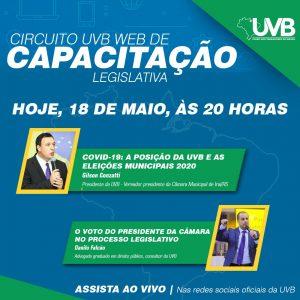Inicia nesta segunda feira(18) o circuito UVB Web de qualificação legislativa