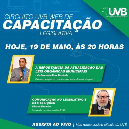 Acompanhe nesta terça feira o segundo modulo do  Circuito UVB WEB ás 20 horas ao vivo
