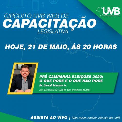 Juiz Herval Sampaio estará ao vivo nesta quinta feira(21) no Circuito UVB WEB