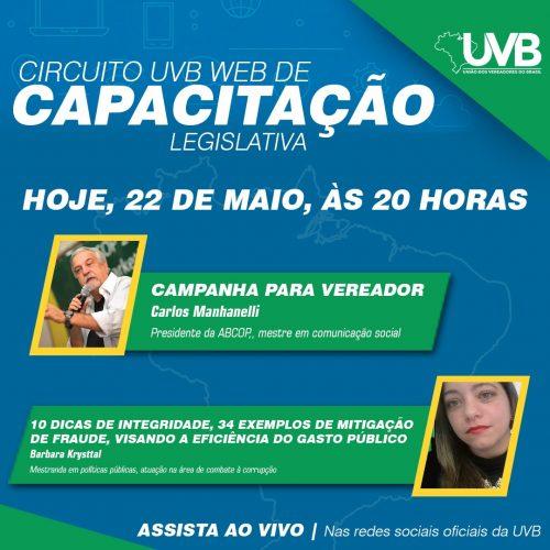 Acompanhe nesta sexta feira(22) o encerramento da programação do circuito UVB WEB