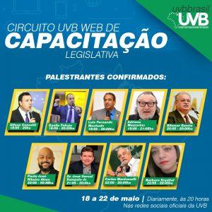 Circuito UVB WEB de Capacitação Legislativa – 18 a 22/05 – Conheça nossos palestrantes