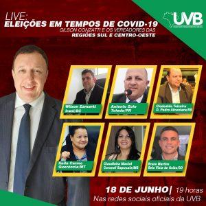 Hoje live da UVB com os vereadores das regiões Sul e Centro Oeste