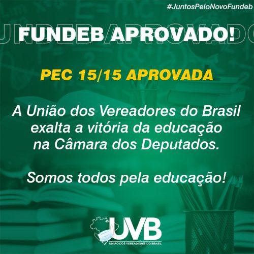UVB exalta a vitória da educação na Câmara dos deputados