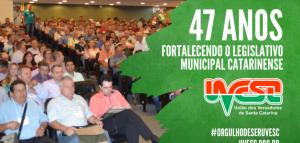 UVB  parabeniza a União de Vereadores de Santa Catarina pelos 47 anos de fundação