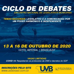 Ciclo de debates-Encontro Nacional de Legislativos Municipais de 13 a 16 de Outubro