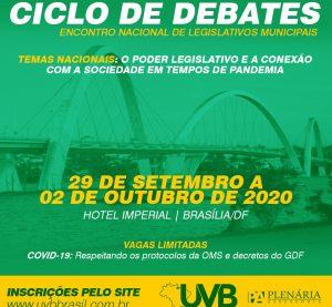 Ciclo de debates-Encontro Nacional de Legislativos Municipais de 29 de Setembro a 02 de Outubro