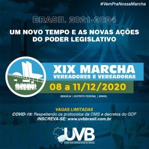 Confira a programação da  XIX Marcha dos Vereadores e Vereadoras