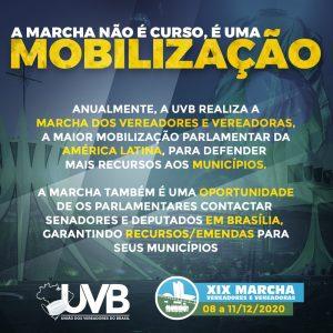 A Marcha dos Vereadores e Vereadoras não é curso, é uma Mobilização.