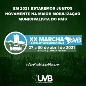 MARCHA UVB acontece de 27 a 30 de abril