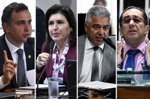 Quatro senadores disputam a Presidência do Senado em fevereiro