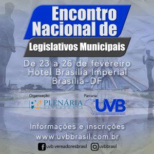 De 23 a 26 de fevereiro, Brasília recebe edição do Encontro de Legislativos Municipais