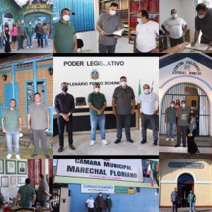 Câmara de Marechal Floriano-ES recebe visita do presidente da UVB.