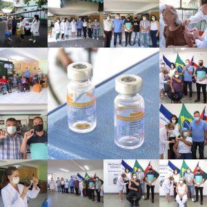 Câmara de Marechal Floriano participa da primeira vacinação contra a Covid-19 no Município.