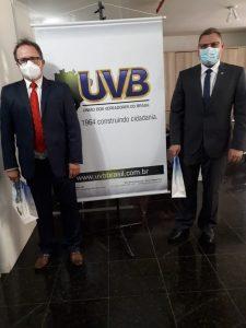 Vereadores de Quinze de Novembro/RS visitam a sede da UVB em Brasília.