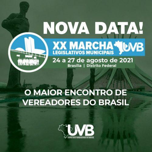 Nova data da Marcha dos Legislativos Municipais em Brasília