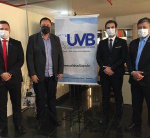 Vereadores de Santo Antônio da Patrulha/RS, visitam a  sede da UVB em Brasília.