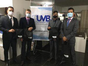 Vereadores de Teofilândia/BA visitam a sede da UVB em Brasília.