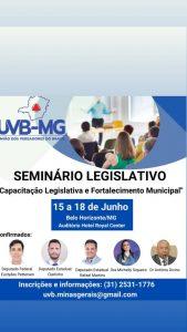 Vereadores mineiros se organizam para realizar Encontro de Legislativos em Belo Horizonte e fundar seccional da UVB no estado