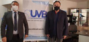Vereador de São Simão/SP visita sede da UVB em Brasília/DF