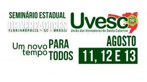 UVESC promove Seminário Estadual de Vereadores em Florianópolis