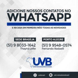 Adicione nossos contatos no Whatsapp