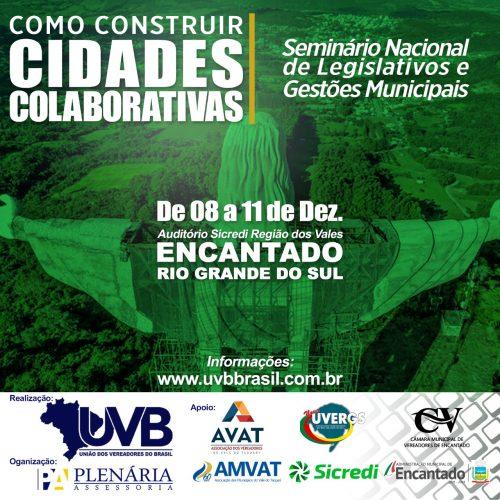 Como construir Cidades Colaborativas é o tema principal  do Seminário Nacional de Legislativos